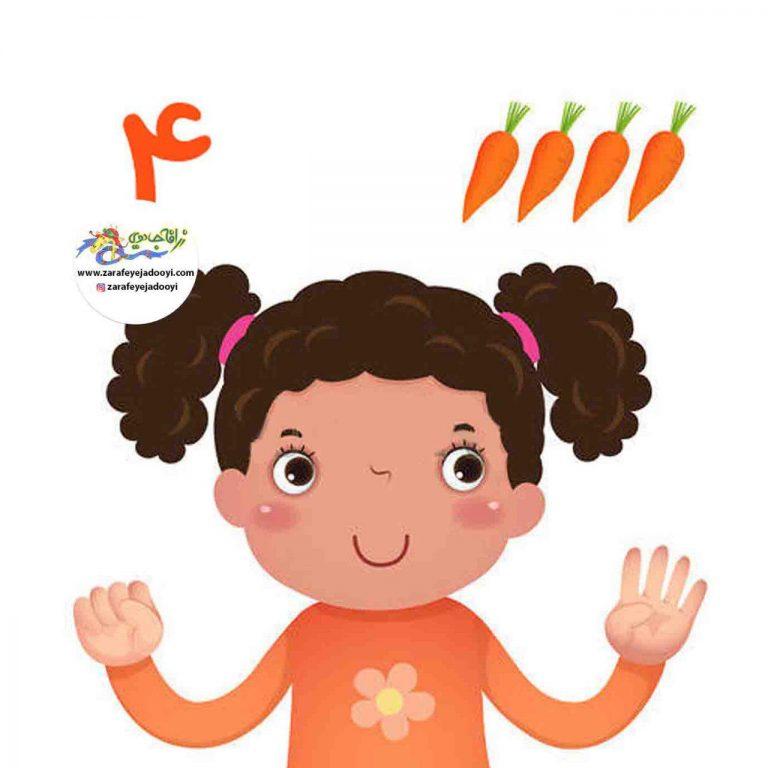 آموزش شمارش اعداد به کودکان با خوردنی ها