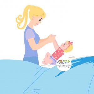 تقویت حس لامسه ( ماه های اول تولد )