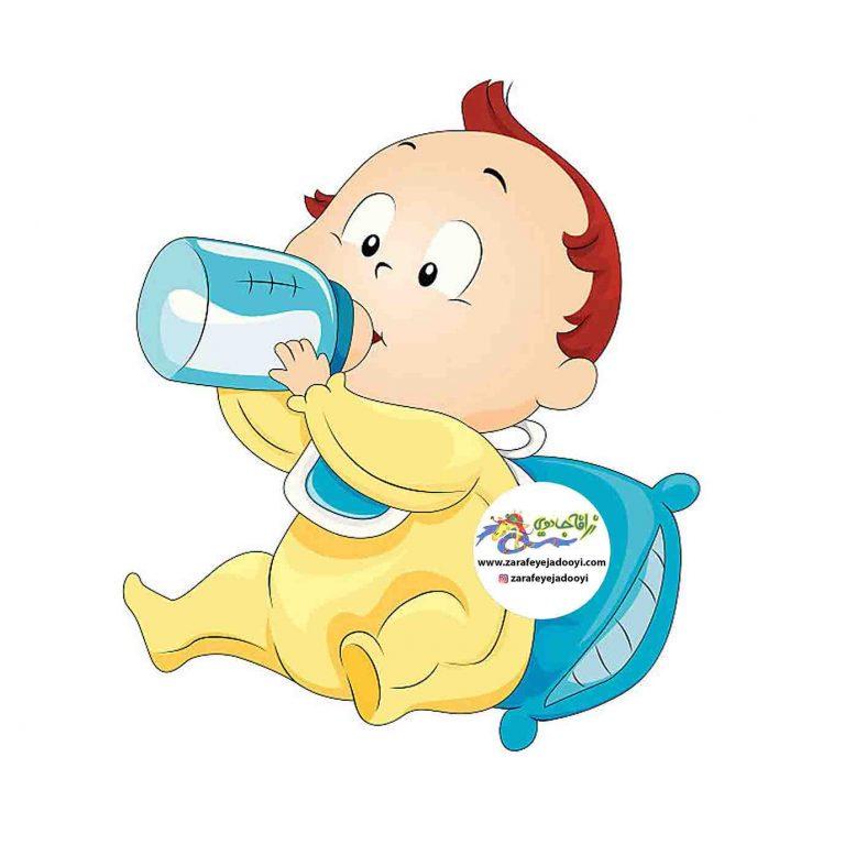 تغذیه نوزاد با شیشه شیر - شیر خشک