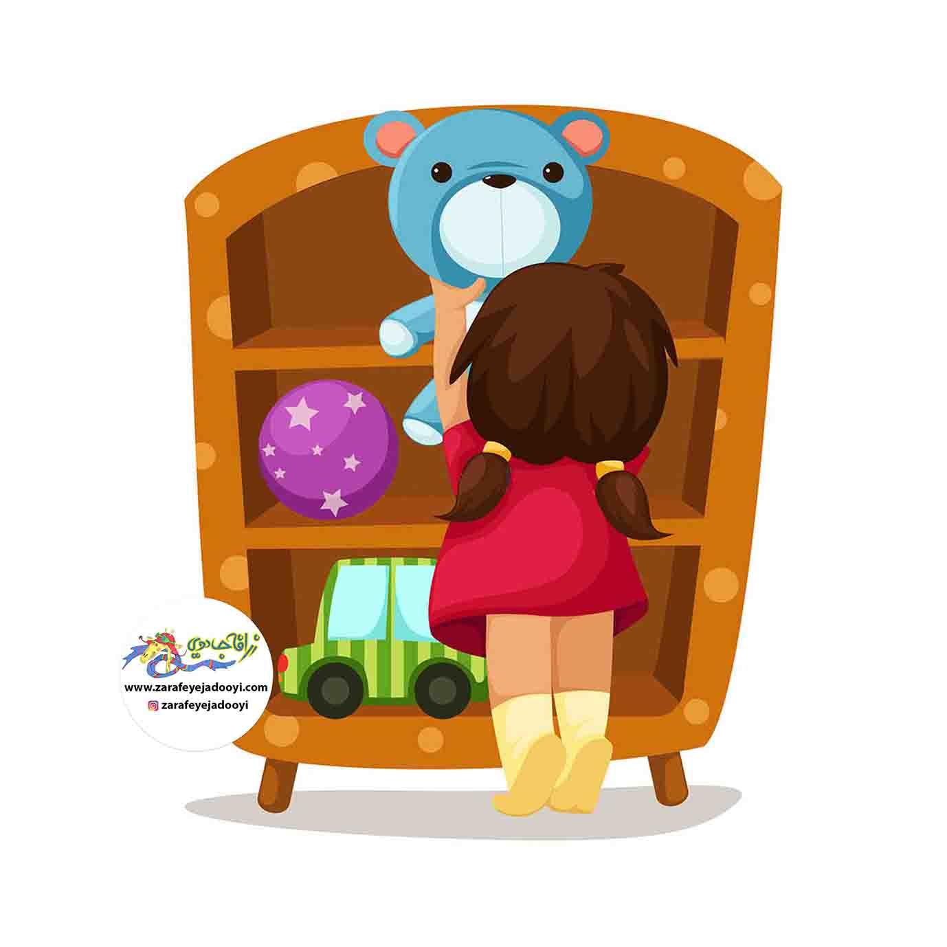 زرافه جادویی - تزیین اتاق کودک