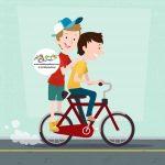 زرافه جادویی - دوچرخه سوار شدن