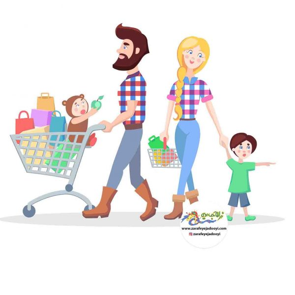 زرافه جادویی - خرید کردن با کودک