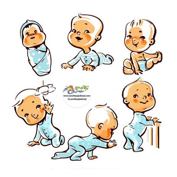 زرافه جادویی -رشد کودک از تولد تا یک سالگی