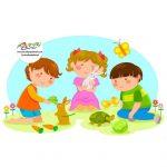 زرافه جادویی -رابطه کودک با حیوانات