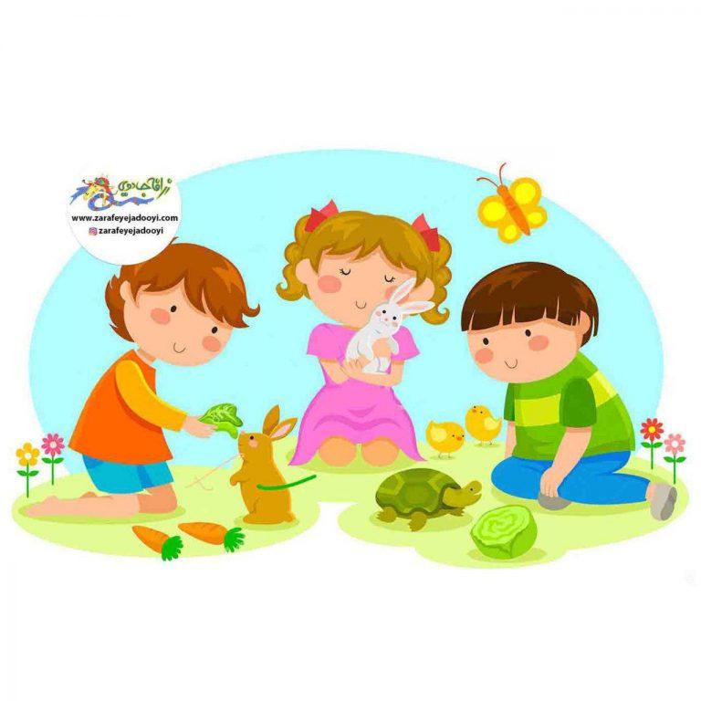 رفتار کودکان با حیوانات خانگی