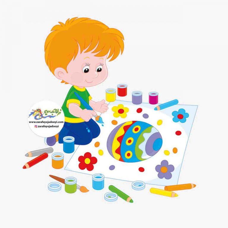 استفاده از نقاشی کودکانه در مورد اسراف نکردن