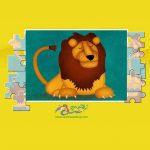 زرافه جادویی - بازی پازل شیر جنگل
