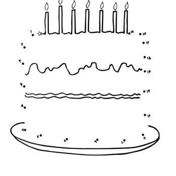 زرافه جادویی - نقاشی نقطه به نقطه کیک تولد