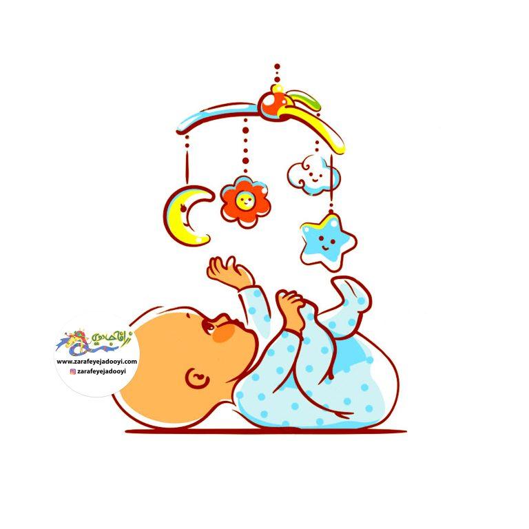 تقویت و پرورش حس بینایی نوزاد