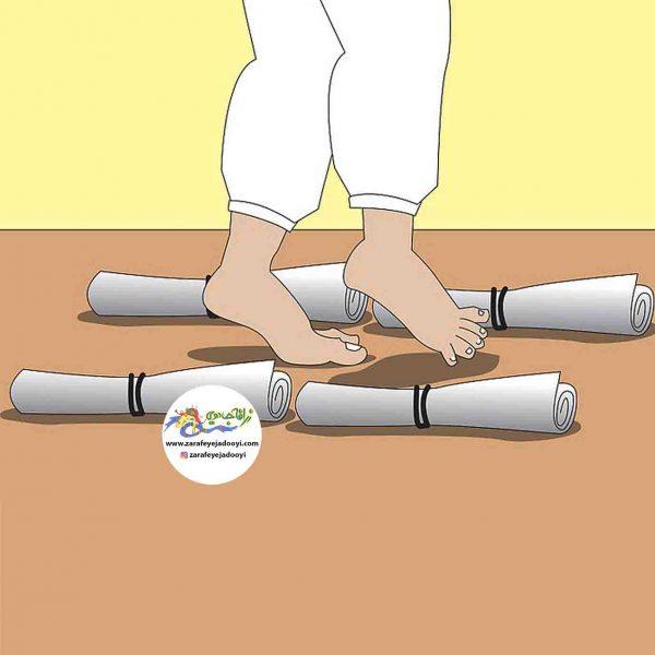 زرافه جادویی - آموزش اندازه گیری به کودک به کمک پاها