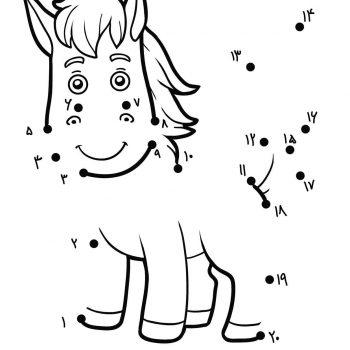 زرافه جادویی-بازی نقطه به نقطه-اسب کوچولو