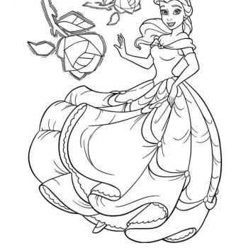 زرافه جادویی-رنگ آمیزی پرنسس دیو و دلبر