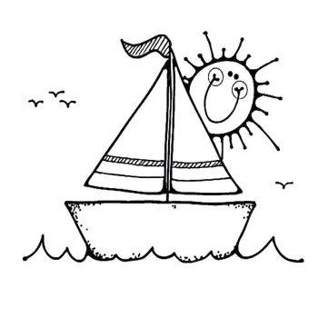 زرافه جادویی - رنگ آمیزی قایق و خورشید