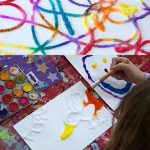 زرافه جادویی-نقاشی آبرنگ نقش برجسته با نمک 7