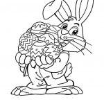 زرافه جادویی-طرح رنگ آمیزی کودکان خرگوش و تخم مرغ