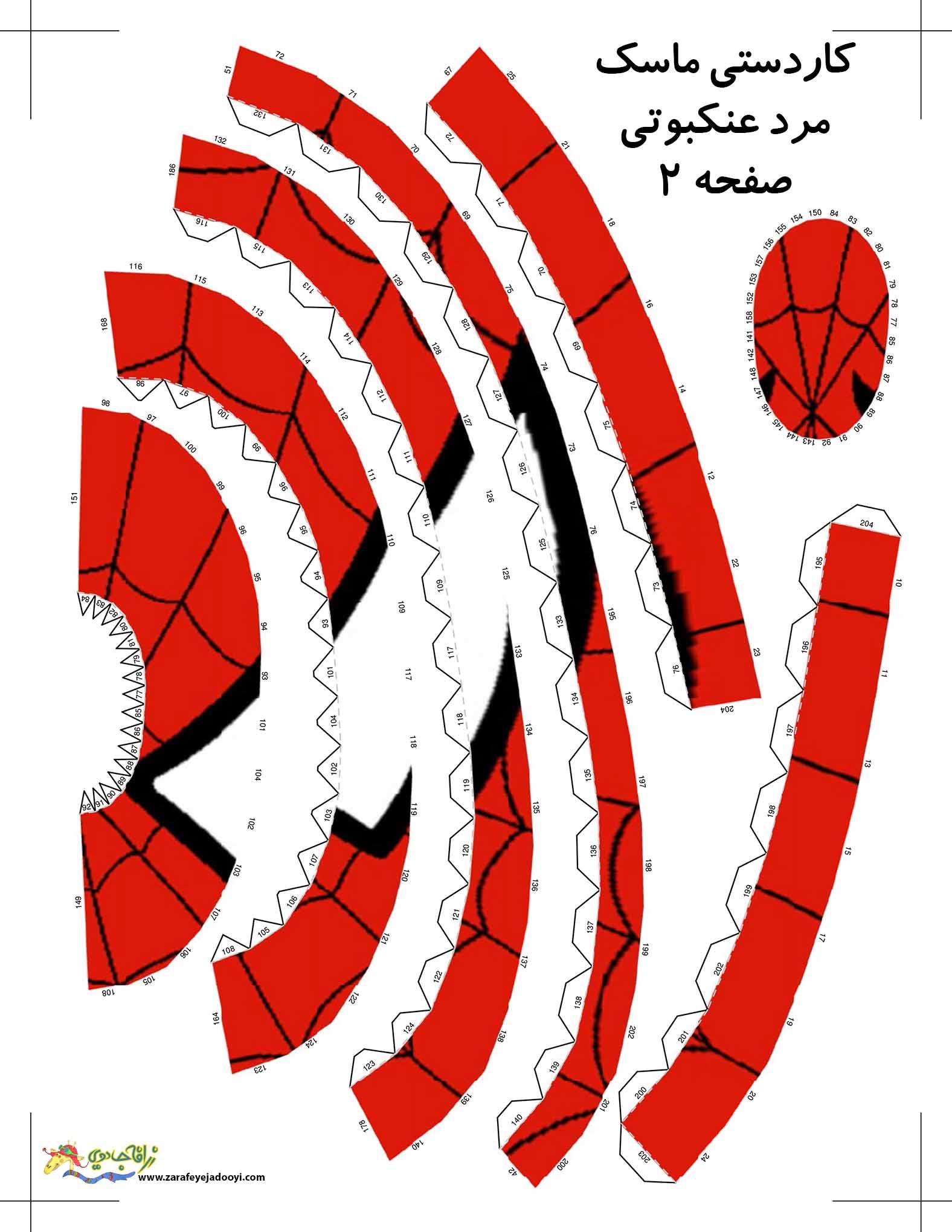 کاردستی ماسک مرد عنکبوتی صفحه ۲