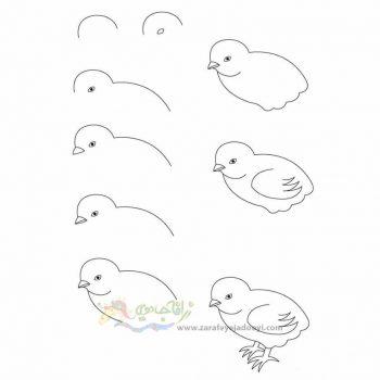 زرافه جادویی-نقاشی ساده جوجه