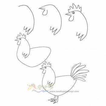 زرافه جادویی-نقاشی ساده خروس