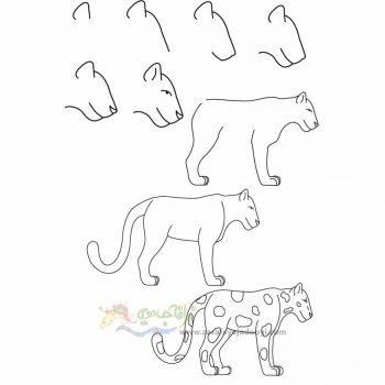 زرافه جادویی-نقاشی ساده پلنگ