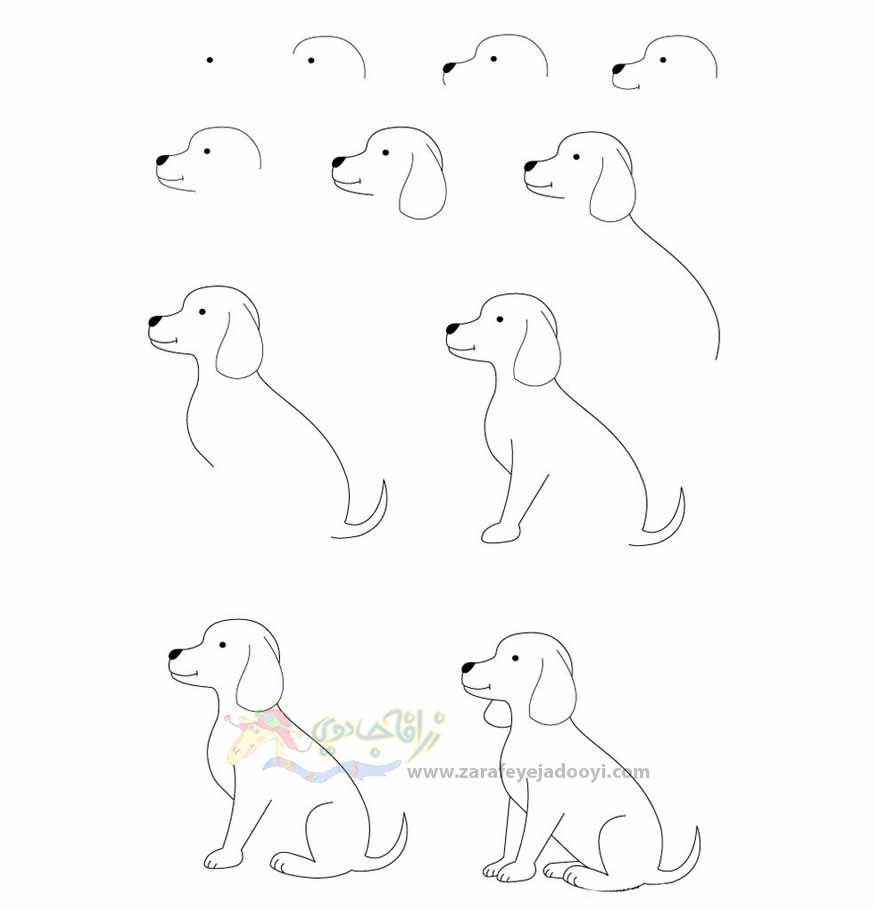 زرافه جادویی-نقاشی ساده سگ