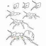 زرافه جادویی-نقاشی ساده مورچه