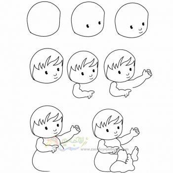 زرافه جادویی-نقاشی ساده کودک