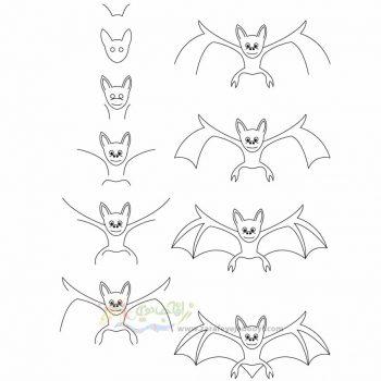 زرافه جادویی-نقاشی ساده خفاش