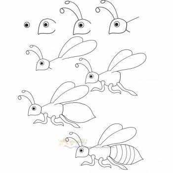 زرافه جادویی-نقاشی ساده زنبور