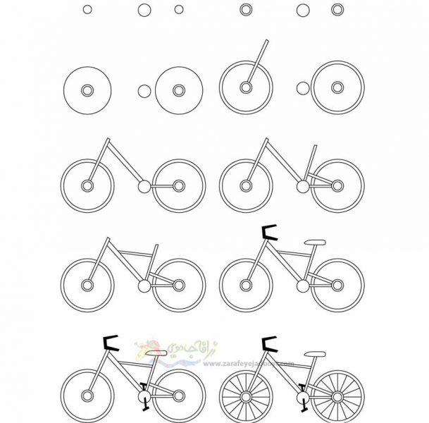 زرافه جادویی-نقاشی ساده دوچرخه