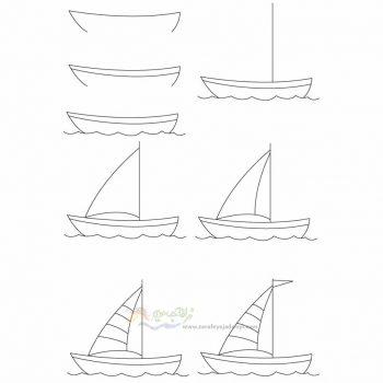 زرافه جادویی-نقاشی ساده قایق بادی