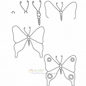 زرافه جادویی-نقاشی ساده پروانه
