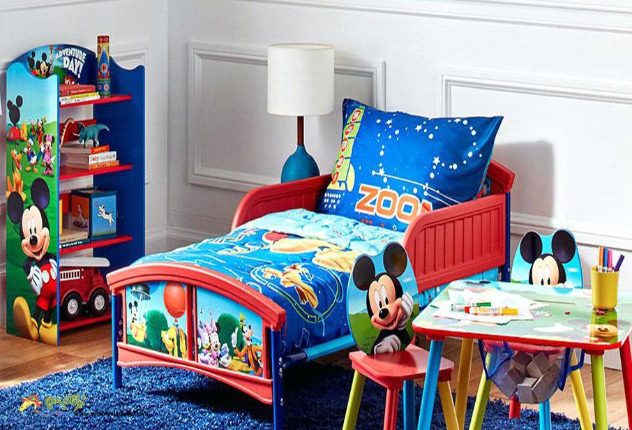 طرح دکوراسیون اتاق خواب پسرانه با ترکیب رنگ آبی
