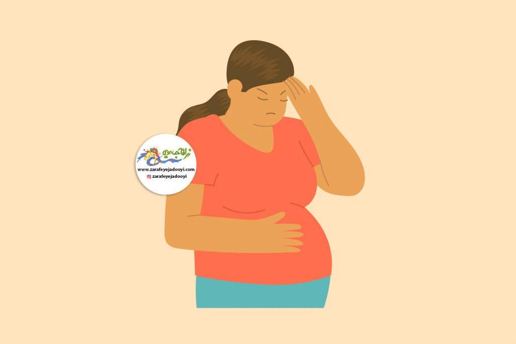 زرافه جادویی - هفته یازدهم بارداری - میگرن در بارداری