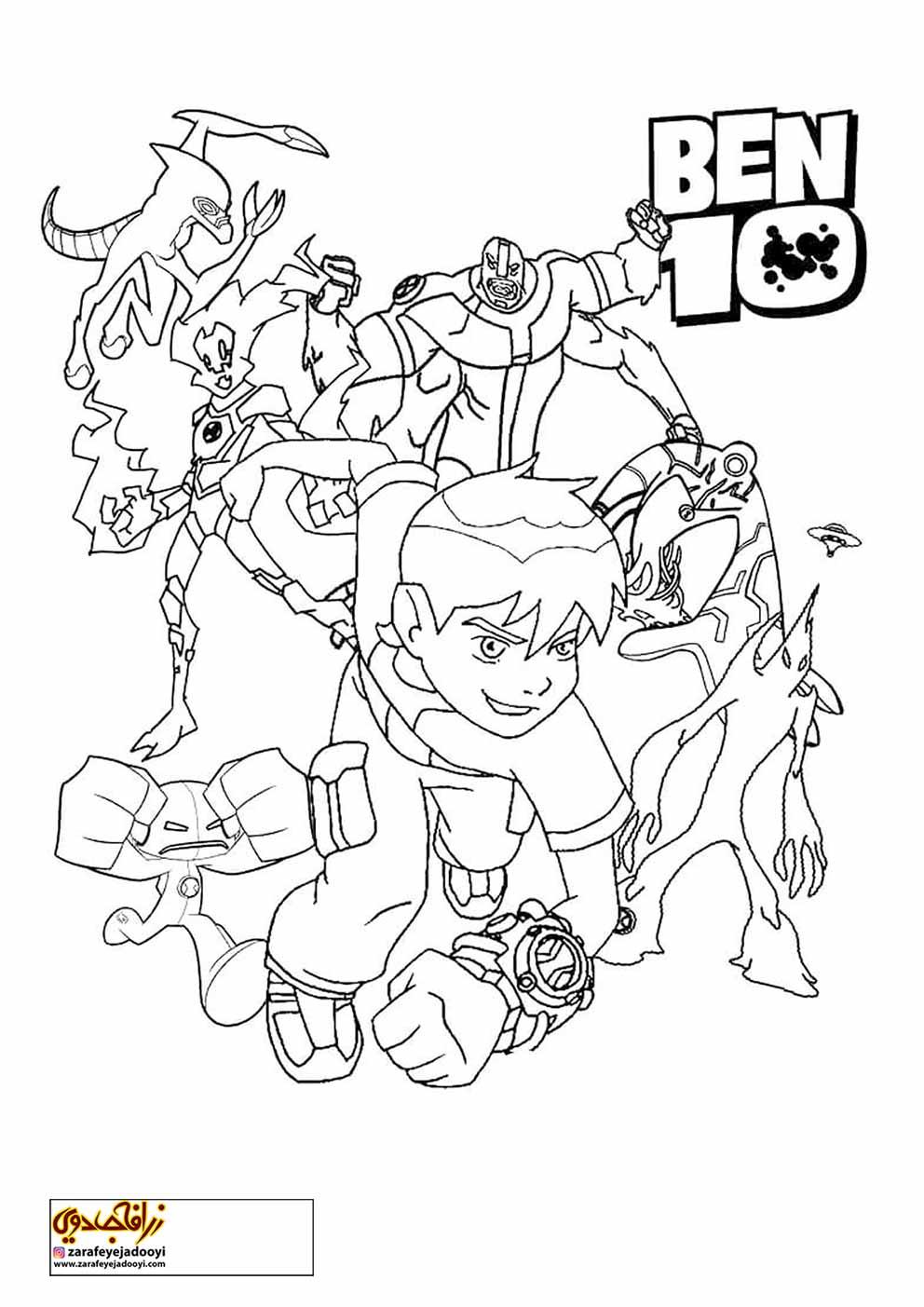 زرافه-جادویی-نقاشی-کارتون-بن-تن-09