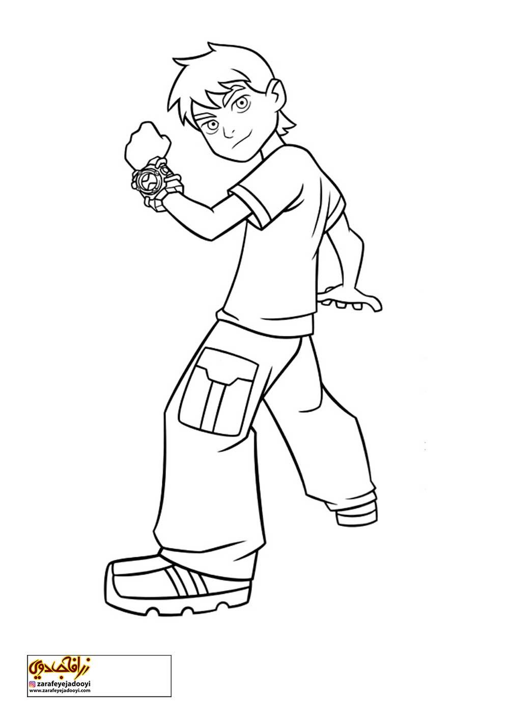 زرافه-جادویی-نقاشی-کارتون-بن-تن-13