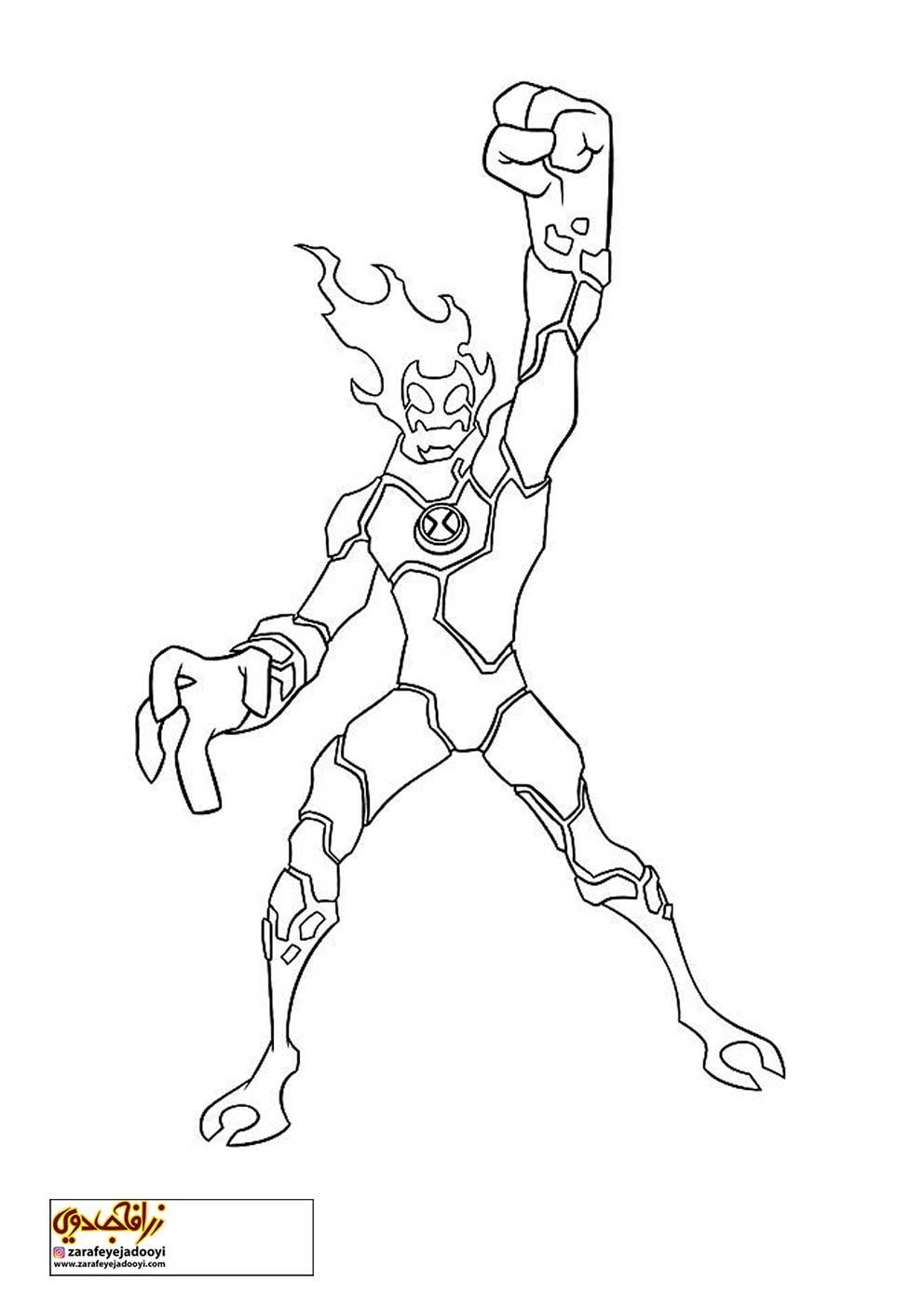 زرافه-جادویی-نقاشی-کارتون-بن-تن-18