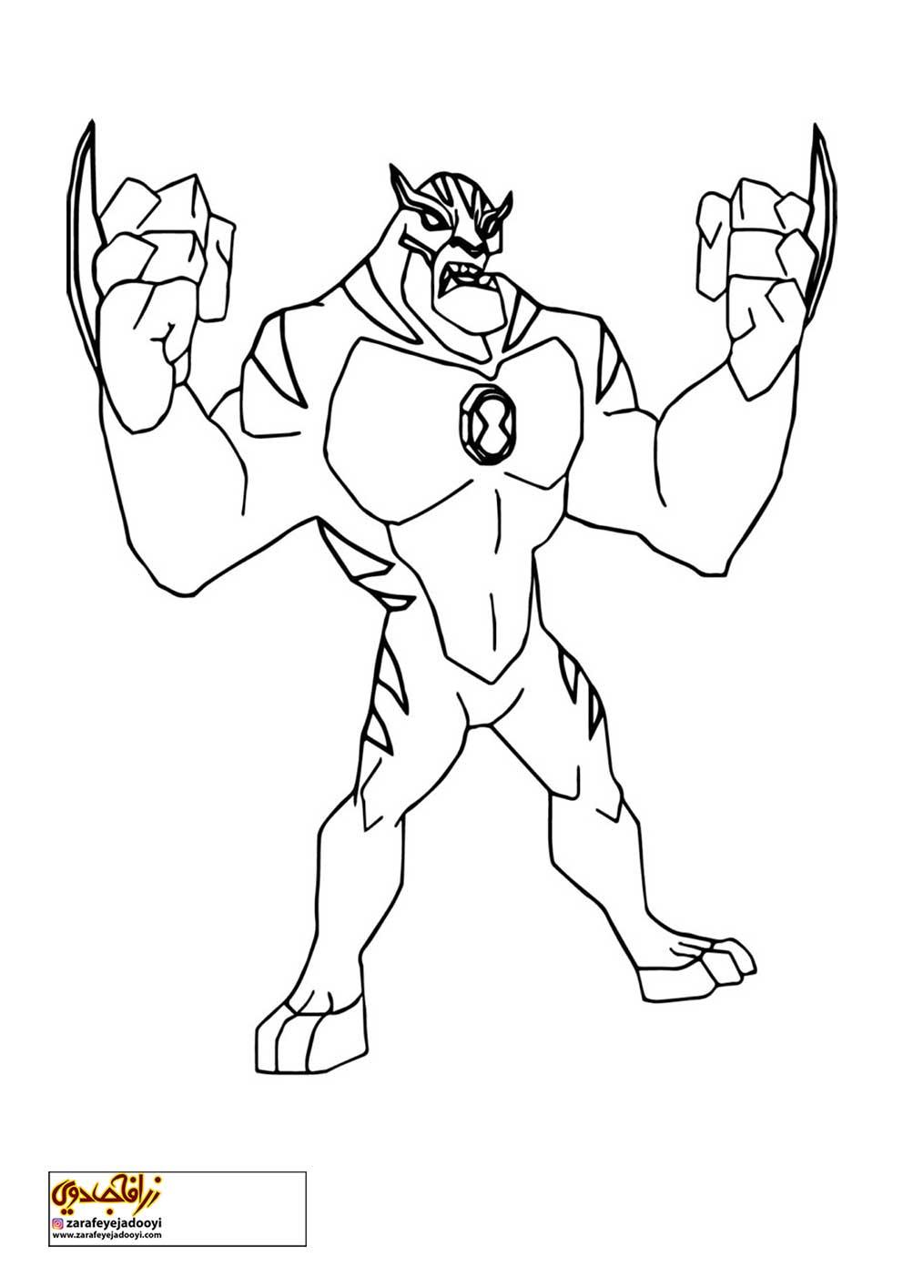 زرافه-جادویی-نقاشی-کارتون-بن-تن-19