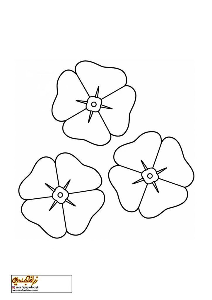 طرح رنگ آمیزی و نقاشی گل برای کودکان 6