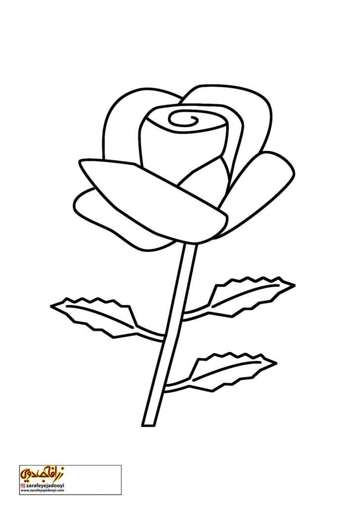 طرح رنگ آمیزی و نقاشی گل برای کودکان 10