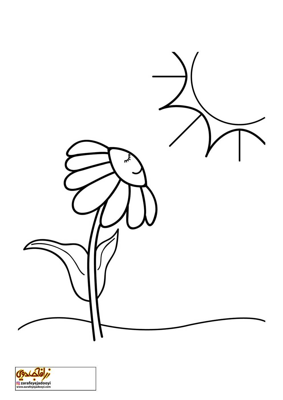 نقاشی گلدون ساده