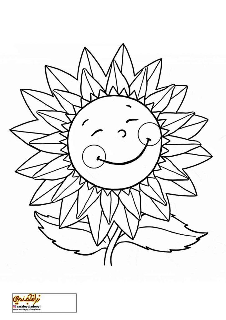طرح رنگ آمیزی و نقاشی گل برای کودکان 16