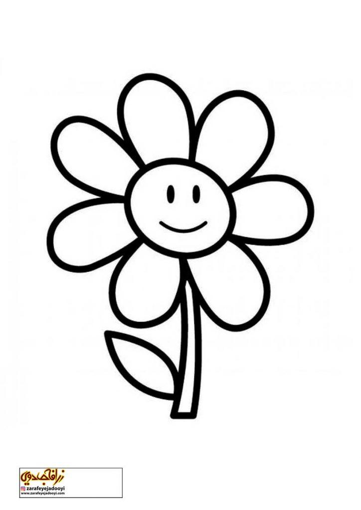 طرح رنگ آمیزی و نقاشی گل برای کودکان 18
