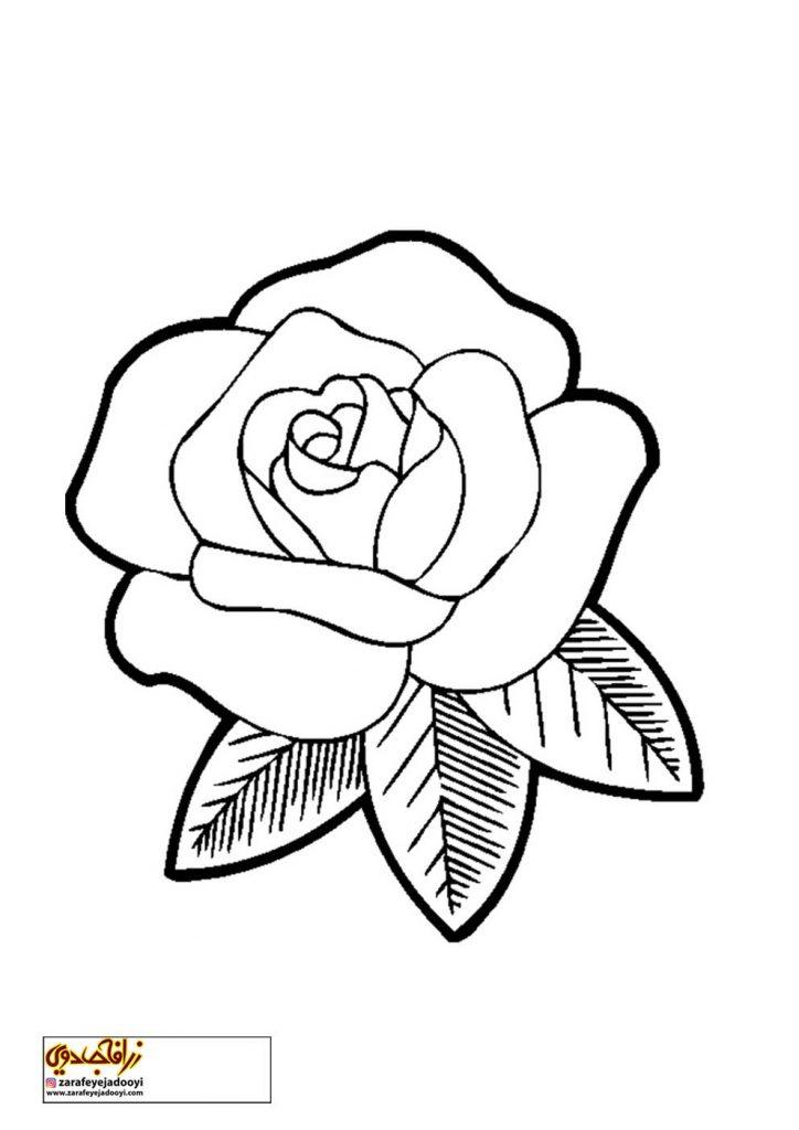 طرح رنگ آمیزی و نقاشی گل برای کودکان 19