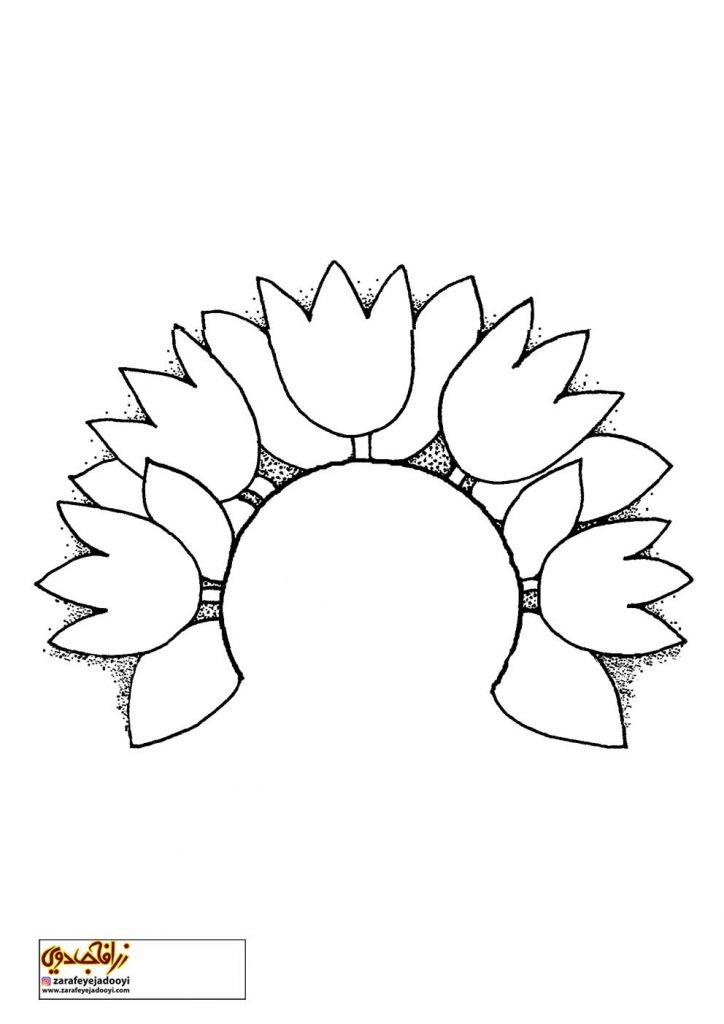 طرح رنگ آمیزی و نقاشی گل برای کودکان 20
