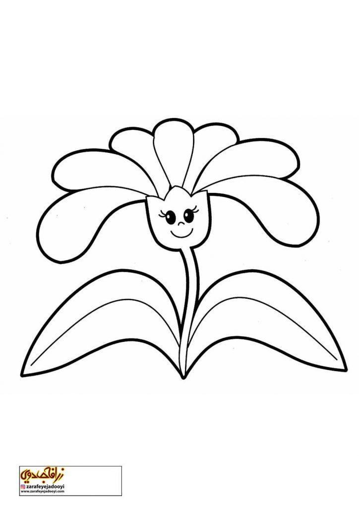 طرح رنگ آمیزی و نقاشی گل برای کودکان 21
