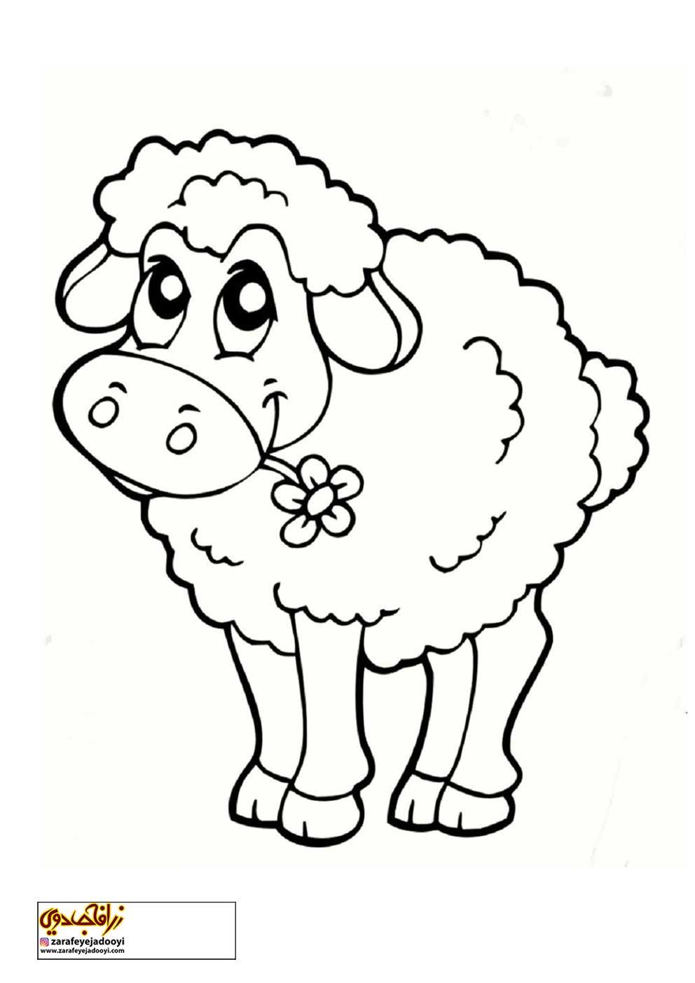 زرافه-جادویی-رنگ-آمیزی-کودکان-گوسفند-03