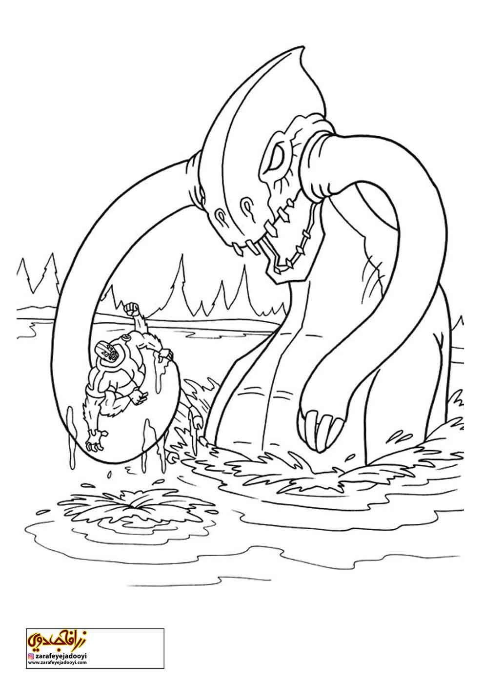 زرافه-جادویی-نقاشی-کارتون-بن-تن-24