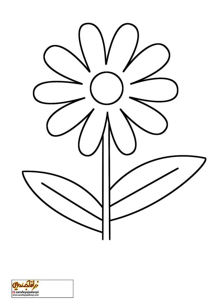 طرح رنگ آمیزی و نقاشی گل برای کودکان 2