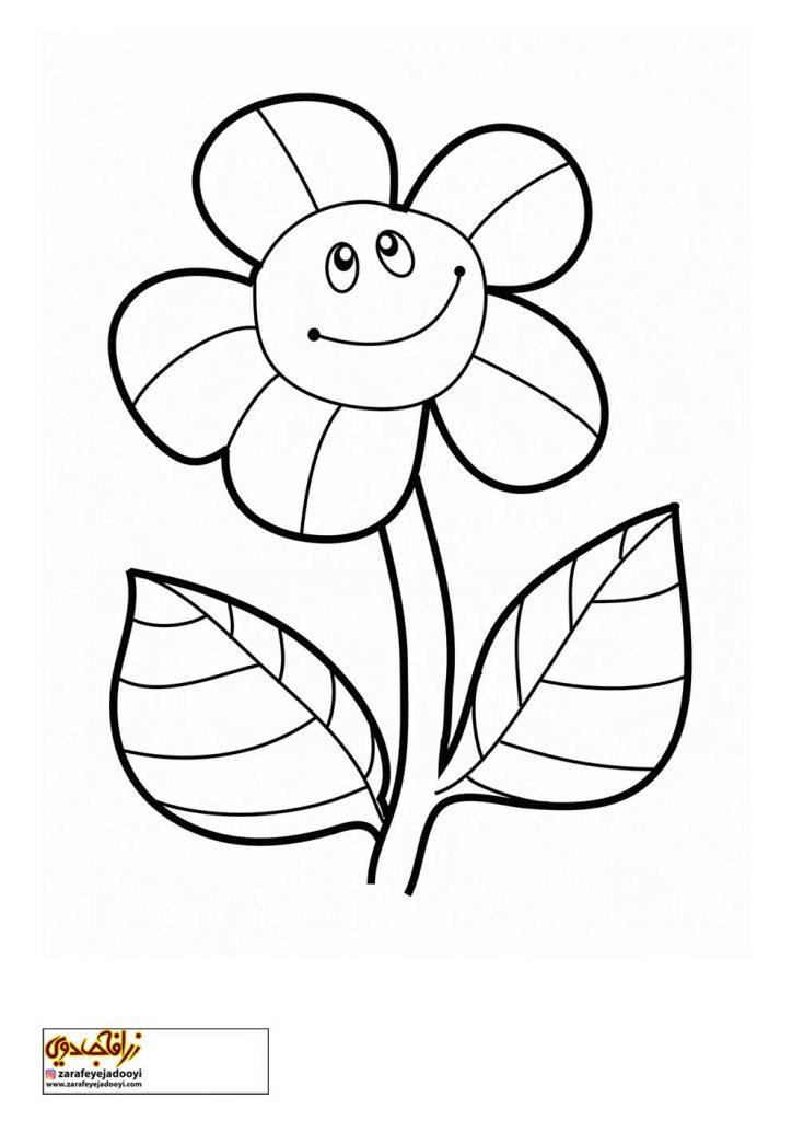 طرح رنگ آمیزی و نقاشی گل برای کودکان 3