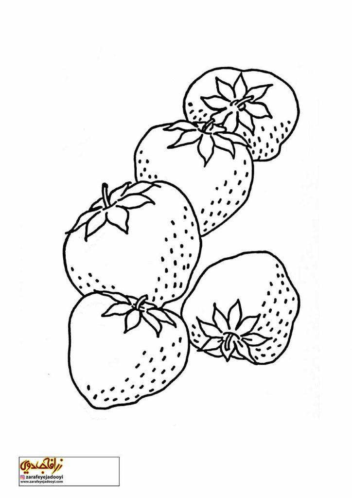 نقاشی میوه توت فرنگی برای کودکان 2